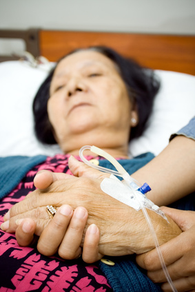 Elderly people and hospital care