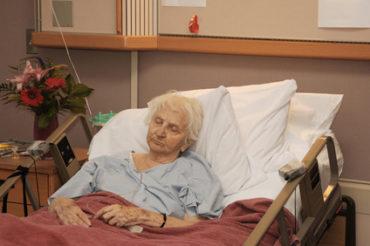 Elderly relative in hospital needing full time care