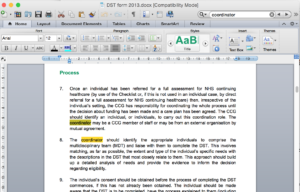 Searching a Word document