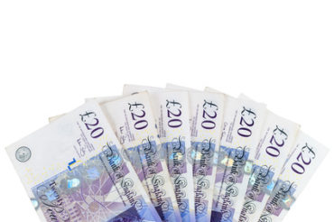 Paying care fees - banknotes of £20