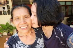Selfie Senior woman with daughter